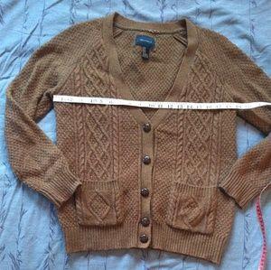 Cable Knit boyfriend Cardigan Sweater w/ pockets